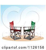 Clipart Of Director And Producer Chairs Royalty Free Vector Illustration by leonid