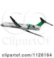 White And Green Commercial Airliner