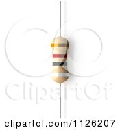 Clipart Of A 9100 Ohms 91 KiloOhms Resistor Royalty Free CGI Illustration