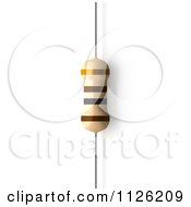 Clipart Of A 100 Ohms Resistor Royalty Free CGI Illustration