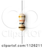 Clipart Of A 10000 Ohms 10 KiloOhms Resistor Royalty Free CGI Illustration
