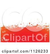 Clipart Of A Grungy Orange On White Splatter Background Royalty Free Vector Illustration