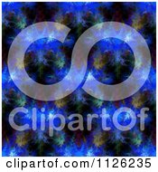 Clipart Of A Seamless Blue Fractal Kaledioscope Pattern Royalty Free Illustration