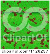 Clipart Of A Seamless Green Leaf Texture Background Pattern 5 Royalty Free CGI Illustration