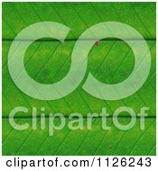 Clipart Of A Seamless Green Leaf Texture Background Pattern 1 Royalty Free CGI Illustration