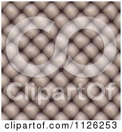 Clipart Of A Seamless Beige Leather Upholstery Texture Background Pattern 1 Royalty Free CGI Illustration