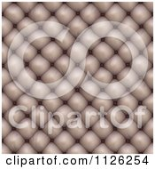 Clipart Of A Seamless Beige Leather Upholstery Texture Background Pattern 3 Royalty Free CGI Illustration