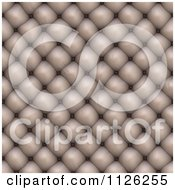 Clipart Of A Seamless Beige Leather Upholstery Texture Background Pattern 4 Royalty Free CGI Illustration