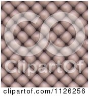 Clipart Of A Seamless Beige Leather Upholstery Texture Background Pattern 5 Royalty Free CGI Illustration
