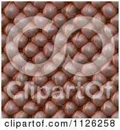 Clipart Of A Seamless Leather Upholstery Texture Background Pattern 4 Royalty Free CGI Illustration