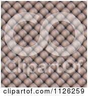 Clipart Of A Seamless Beige Leather Upholstery Texture Background Pattern 7 Royalty Free CGI Illustration