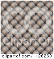 Clipart Of A Seamless Beige Leather Upholstery Texture Background Pattern 8 Royalty Free CGI Illustration
