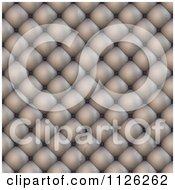 Clipart Of A Seamless Beige Leather Upholstery Texture Background Pattern 6 Royalty Free CGI Illustration