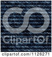 Clipart Of A Seamless Blue Jean Texture Background Pattern 7 Royalty Free CGI Illustration