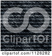 Clipart Of A Seamless Blue Jean Texture Background Pattern 19 Royalty Free CGI Illustration