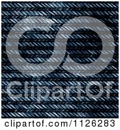 Clipart Of A Seamless Blue Jean Texture Background Pattern 27 Royalty Free CGI Illustration