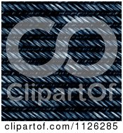 Clipart Of A Seamless Blue Jean Texture Background Pattern 26 Royalty Free CGI Illustration