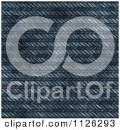 Clipart Of A Seamless Blue Jean Texture Background Pattern 3 Royalty Free CGI Illustration
