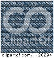 Clipart Of A Seamless Blue Jean Texture Background Pattern 22 Royalty Free CGI Illustration