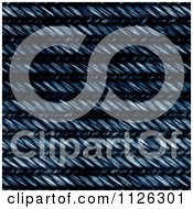 Clipart Of A Seamless Blue Jean Texture Background Pattern 6 Royalty Free CGI Illustration