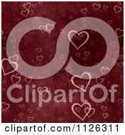 Clipart Of A Seamless Red Heart Texture Background Pattern Royalty Free CGI Illustration