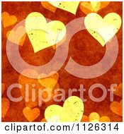 Clipart Of A Seamless Orange Heart Texture Background Pattern Royalty Free CGI Illustration