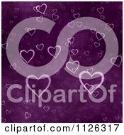 Clipart Of A Seamless Purple Heart Texture Background Pattern Royalty Free CGI Illustration