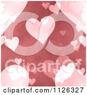 Clipart Of A Seamless Pink Heart Texture Background Pattern Royalty Free CGI Illustration
