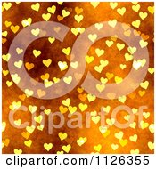 Clipart Of A Seamless Orange Heart Texture Background Pattern Royalty Free CGI Illustration by Ralf61
