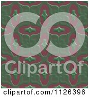 Clipart Of A Seamless Green Floral Gaudy Texture Background Pattern Royalty Free CGI Illustration by Ralf61
