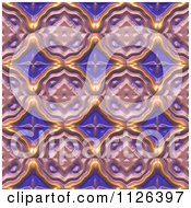Clipart Of A Seamless Purple Floral Gaudy Texture Background Pattern Royalty Free CGI Illustration