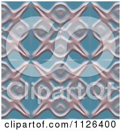 Seamless Blue Floral Gaudy Texture Background Pattern