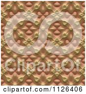 Clipart Of A Seamless Orange Floral Gaudy Texture Background Pattern Royalty Free CGI Illustration