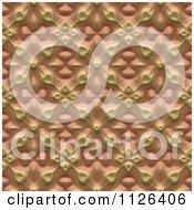 Seamless Orange Floral Gaudy Texture Background Pattern
