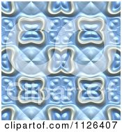 Clipart Of A Seamless Blue Floral Gaudy Texture Background Pattern Royalty Free CGI Illustration