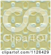 Clipart Of A Seamless Yellow Floral Gaudy Texture Background Pattern Royalty Free CGI Illustration