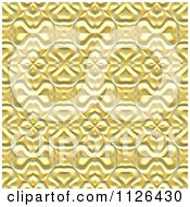Seamless Yellow Floral Gaudy Texture Background Pattern