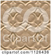 Seamless Tan Floral Gaudy Texture Background Pattern