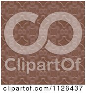 Clipart Of A Seamless Brown Floral Gaudy Texture Background Pattern Royalty Free CGI Illustration by Ralf61