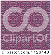 Clipart Of A Seamless Purple Floral Gaudy Texture Background Pattern Royalty Free CGI Illustration by Ralf61