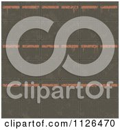 Clipart Of A Seamless Industrial Orange And Metal Plate Floor Texture Background Pattern Royalty Free CGI Illustration