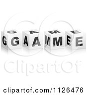 Clipart Of 3d GAME Cubes Royalty Free Vector Illustration by Andrei Marincas