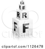 Clipart Of 3d Stacked FREE Cubes Royalty Free Vector Illustration by Andrei Marincas