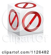 Clipart Of A 3d Forbidden Restricted Box Royalty Free Vector Illustration by Andrei Marincas