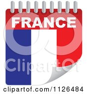 Clipart Of A France Day Calendar Flag Royalty Free Vector Illustration by Andrei Marincas