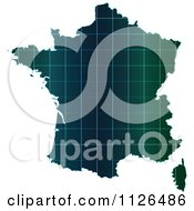 Clipart Of A Map Of France With Grid Lines Royalty Free Vector Illustration by Andrei Marincas