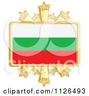 Clipart Of A Bulgarian Flag With A Golden Stars Frame Royalty Free Vector Illustration by Andrei Marincas