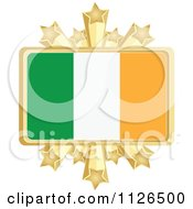 Clipart Of A Irish Flag With A Golden Stars Frame Royalty Free Vector Illustration