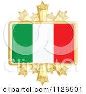 Clipart Of An Italian Flag With A Golden Stars Frame Royalty Free Vector Illustration