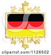 Clipart Of A German Flag With A Golden Stars Frame Royalty Free Vector Illustration by Andrei Marincas